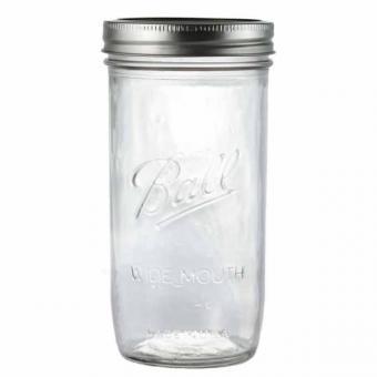 3er Set BALL Mason Jar Wide Mouth Deko-/Einmachglas 700 ml - 24 OZ