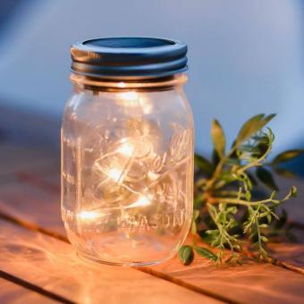 (16,67€/Stk) BALL Mason Jar Regular Mouth 5 LED SOLARLICHT 475 ml