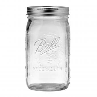 4er Set BALL Mason Jar Wide Mouth Deko-/Einmachglas 950 ml - 32 OZ