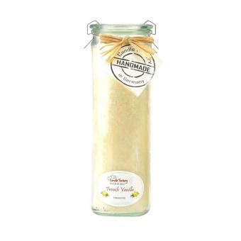 Candle Factory Big Jumbo Duft Windlicht 100% Stearin - French Vanilla