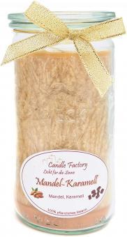 Candle Factory Mini Jumbo Duft Windlicht 100% Stearin Mandel Karamell