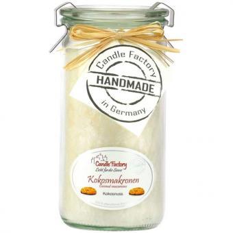 Candle Factory Mini Jumbo Duft Windlicht 100% Stearin Kokosmakronen