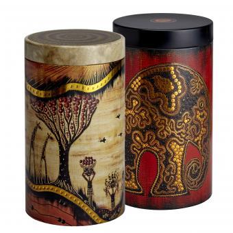 2er Set Metall Teedosen/Kaffeedosen Africa by EIGENart - 500 g