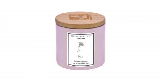 Kerzenfarm Hahn Rapswachs Duftkerze Rose
